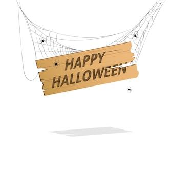 Hanging happy halloween sign
