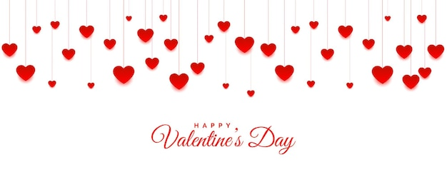 Висячие сердечки на день святого валентина