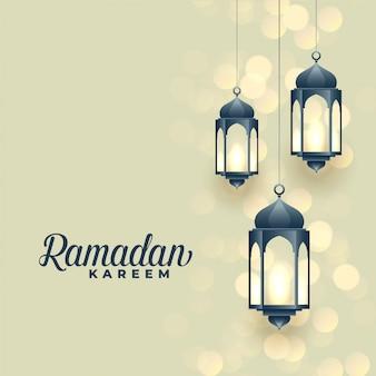 Hanging lamps, ramadan kareem festival design