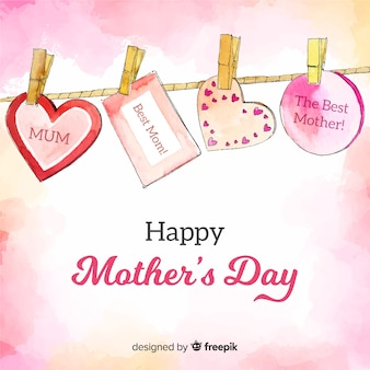 Hanging messages mother's day background