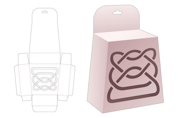 Подвесная упаковка обелиска с высечкой по трафарету
