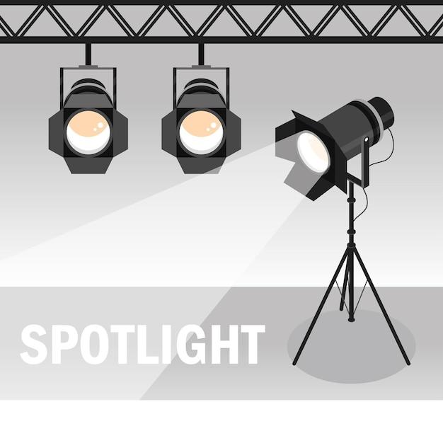 Подвесные или треножные точечные светильники