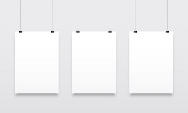 Hanging  poster template set