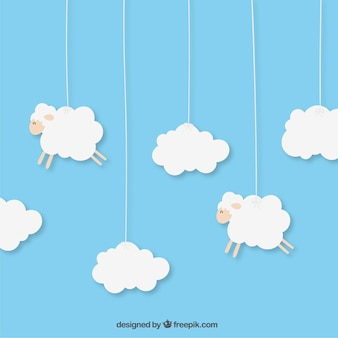 Hanging sheeps
