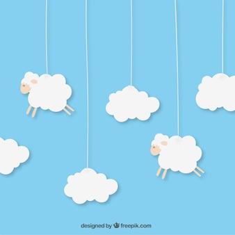Hanging sheeps