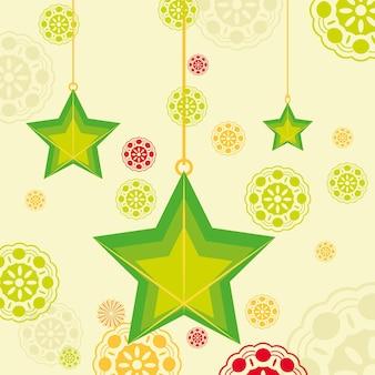 Hanging stars decoration