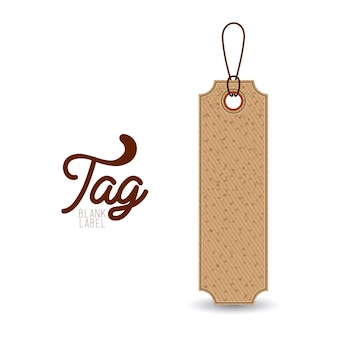 Hanging tag of paperboard material icon. Price offer discount and market design. Isolated design. Ve