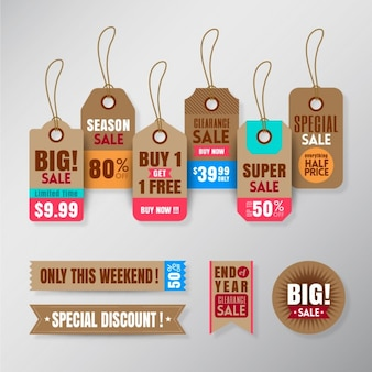 Hanging tags for sales