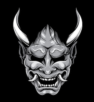 Hannya japanese mask