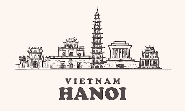 Горизонт ханоя, вьетнам