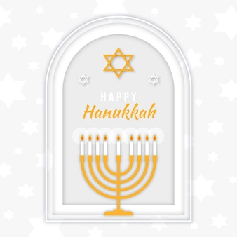 Hanukkah in paper style