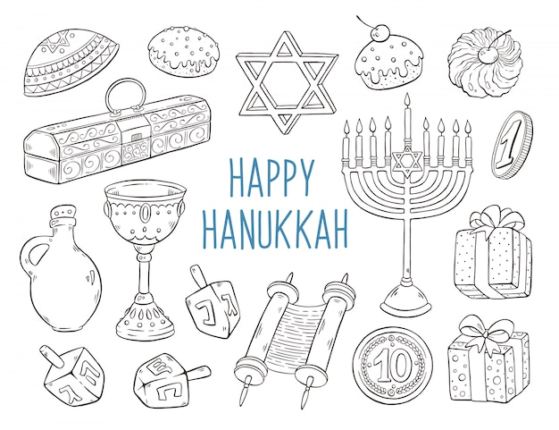 Hanukkah sketches collection