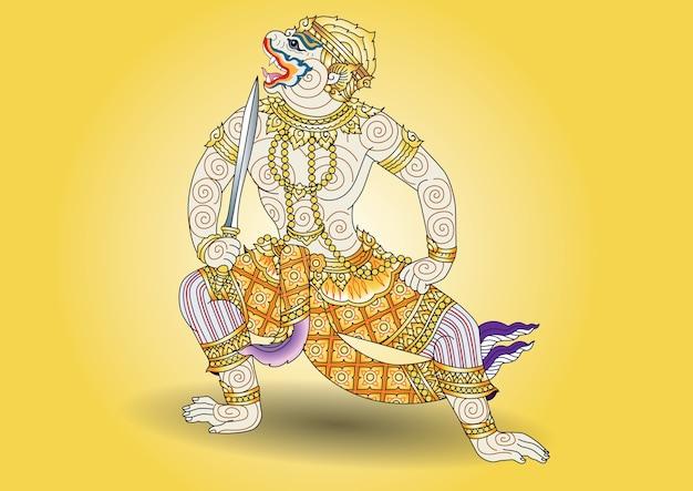 Hanuman thai charactor literature