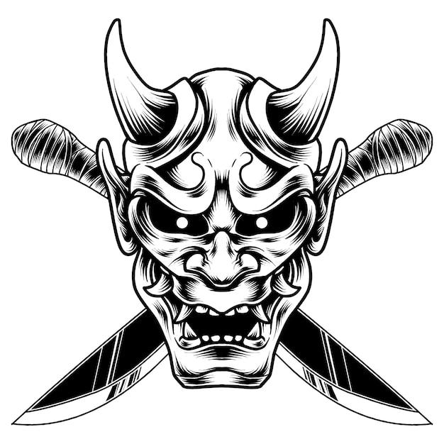 Дизайн иллюстрации маски hanya
