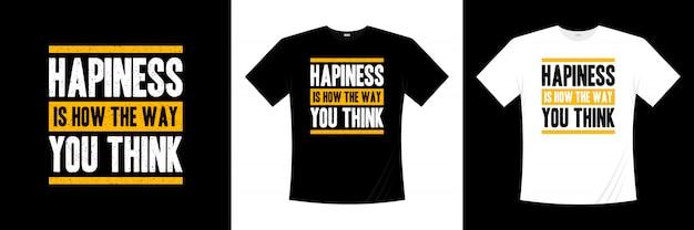 幸せとは、タイポグラフィのtシャツデザインの考え方