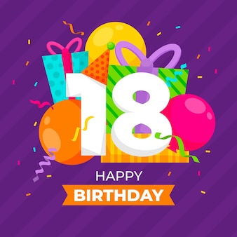 Happy 18 birthday background