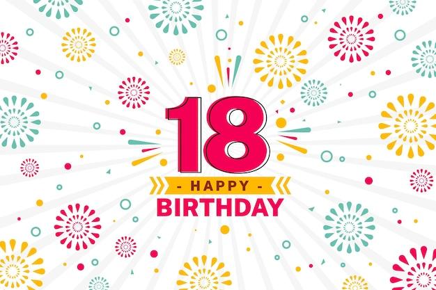 Happy 18th birthday background