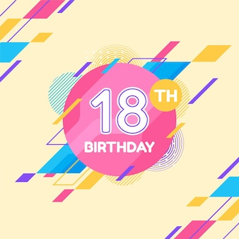 Happy 18th birthday background