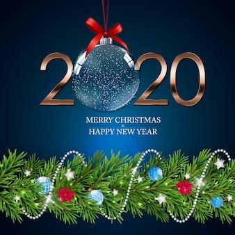 Happy 2020 новый год фон