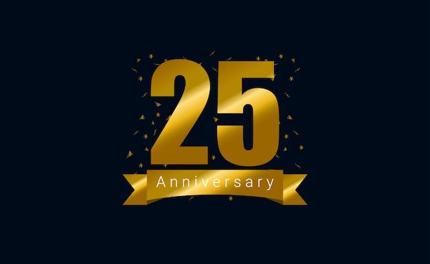 ハッピー25周年記念の背景。