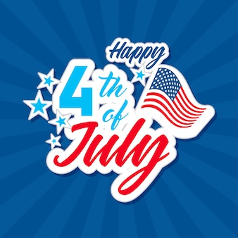 Happy 4th of july greeting card.