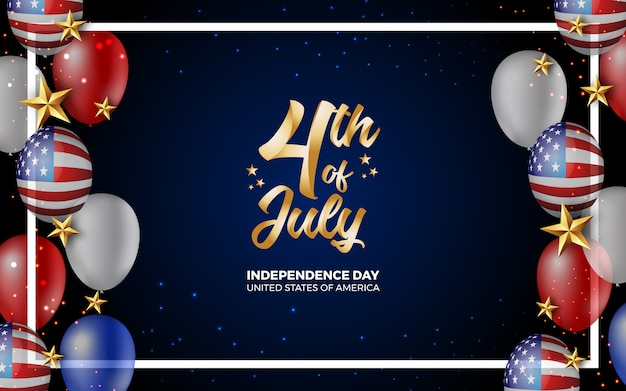 Happy 4th of july independence day of america illustration