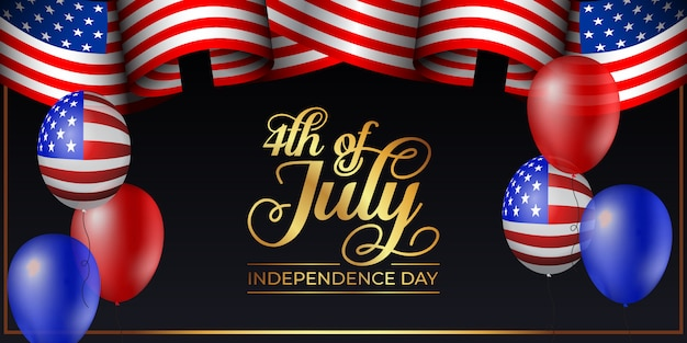 Happy 4th of july independence day background illustration