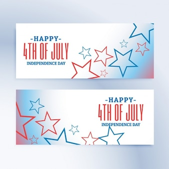 Happy 4th of july independence day banners