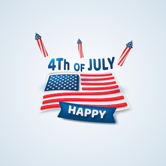 Happy 4th of july. independence day.