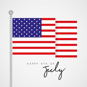 Happy 4th of july, united state independence day vector