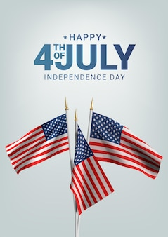 Happy 4th of july usa independence day. waving flag of the america.