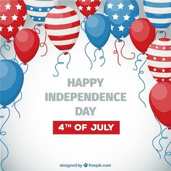 Счастливый 4 июля фон с воздушными шарами
