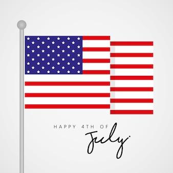 미국 독립 기념일 벡터 7 월 4 일 행복