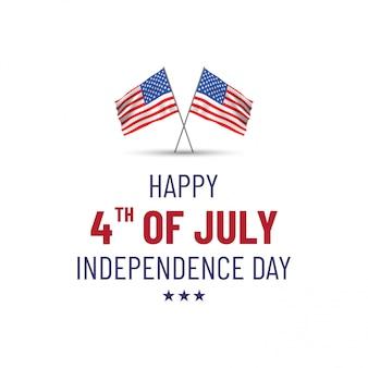 Счастливого 4 июля. открытка ко дню независимости сша с американским национальным флагом
