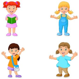 幸せな学校の子供たちの漫画