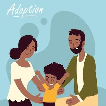 Счастливая усыновленная семья