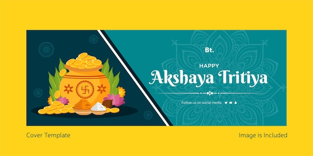 Happy akshaya tritiya cover template page