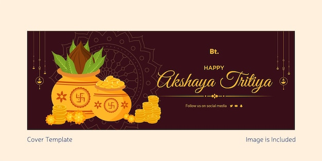 Happy akshaya tritiya cover template