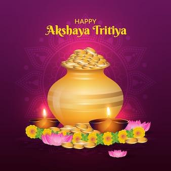 Happy akshaya tritiya day concept