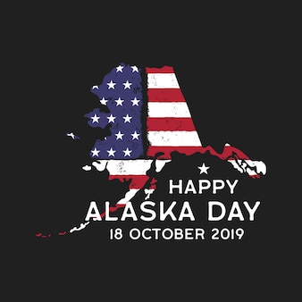 Happy alaska day graphic print