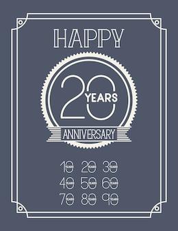 Поздравительная открытка с десятилетиями