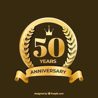 Happy anniversary with numbers in golden style