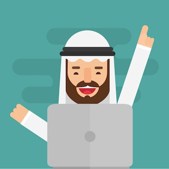 Happy arabic business man successful
