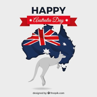 ハッピーオーストラリアの日の背景