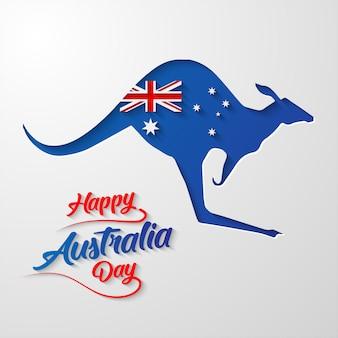 Happy australia day calligraphy lettering