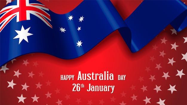 Happy australia day celebration poster or banner background