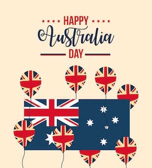 Happy australia day celebration