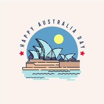 Illustrazione felice di giorno dell'australia