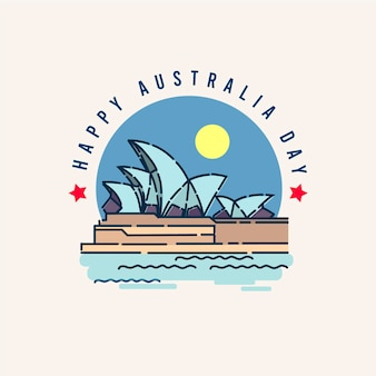 Happy australia day illustration