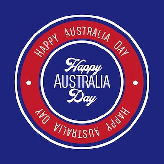 Happy australia day label